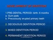 gum pads,devp of primary dentition /fixed orthodontic courses by IDA