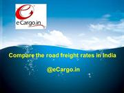 Compare the road freight rates in India