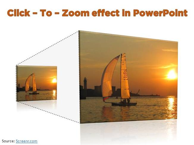 Click To Zoom Effect In Powerpoint