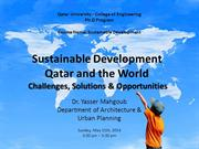 Challenges of Sustainable Development in Qatar and the World 1