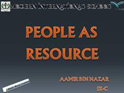 People as Resources