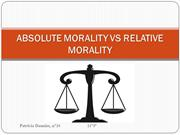 Absolute morality vs relative morality
