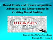 brand equity and brand competition