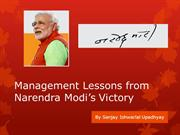 Management Lessons from Narendra Modi's  Victory