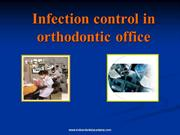 Infection control in orthodontic office