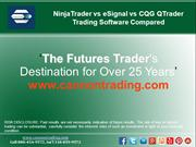 NinjaTrader vs eSignal vs CQG QTrader Trading Software Compared