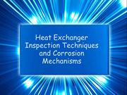 Heat Exchanger Inspection Techniques and Corrosion Mechanisms