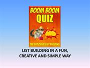 Boom-Boom-traffic, listbuilding-using-quizes