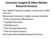Consumer Insights & Other Market Research Services