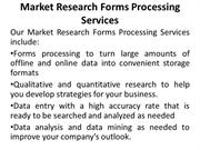 Market Research Forms Processing Services