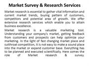 Market Survey & Research Services