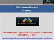 Laser Technologies & Applications Market Worth $19.88 Billion in 2017