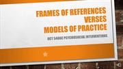 Voice Over Powerpoint- Frames of References