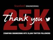 Stanford Engineering hits 25,000 Twitter followers