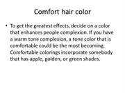 Comfort hair color
