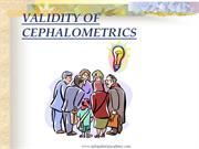 Validity of cephalometrics /orthodontic courses by IDA
