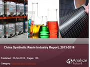China Synthetic Resin Industry Report, 2013-2016