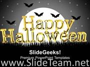 HAPPY HALLOWEEN HOLIDAYS POWERPOINT BACKGROUND