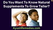 Do You Want To Know Natural Supplements To Grow Taller