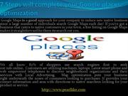 7 easy steps to optimize Google Places