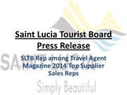 Press Release - SLTB Rep Among Travel Agent Magazine 2014 Top Supplier