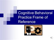 Voice over Powerpoint- Cognitive Behavioral
