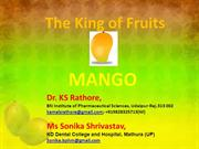king of fruits  Mango