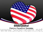 HEART SHAPED US FLAG 4TH JULY POWERPOINT BACKGROUND