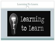 Learning to Learn - An Innovative way of Learning
