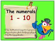 The numerals 1-10