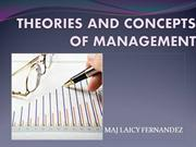 THEORIES AND CONCEPTS OF MANAGEMENT