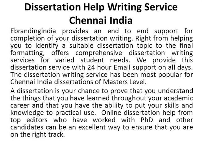 phd thesis writing services in chennai Phdassistance, chennai, india 21k likes phd assistance is one of the topmost academic guidance providers presents all across the world for the past 15.