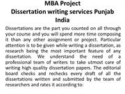 MBA Project Dissertation writing services Panjab India