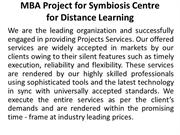 MBA Project for  Symbiosis Centre for Distance Learning