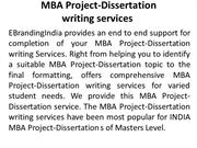 dissertation projects for mba marketing