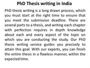 PhD Thesis writing in India