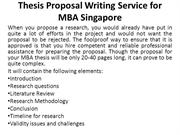 Thesis Proposal Writing Service for MBA Singapore