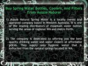 Buy Spring Water Bottles Coolers And Filters From Aussie Natural