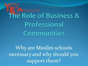 Role of Business in Muslim Schools