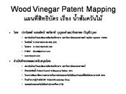Wood Vinegar Patent Mapping