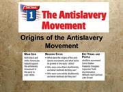 Aboiton & Opposition to Slavery