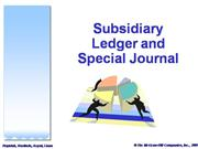 Subsidiary Ledger and Special Journal