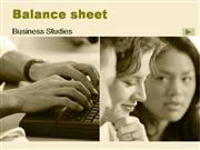 Balance sheet
