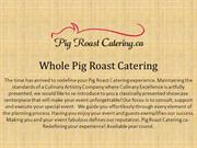 Whole Pig Roast Catering