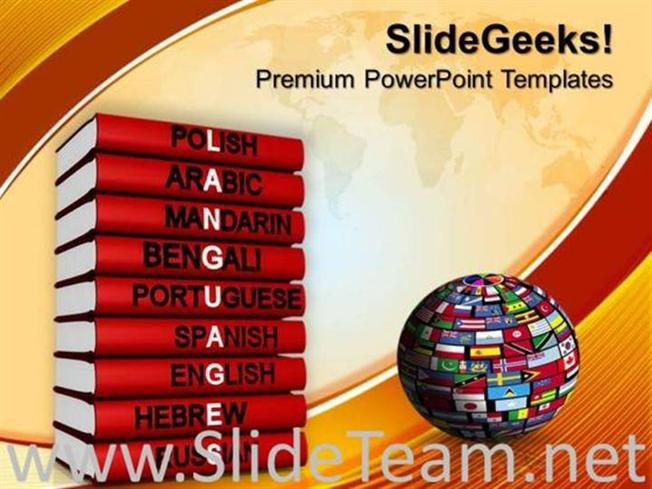 Languages Of The World Powerpoint Background Powerpoint Template