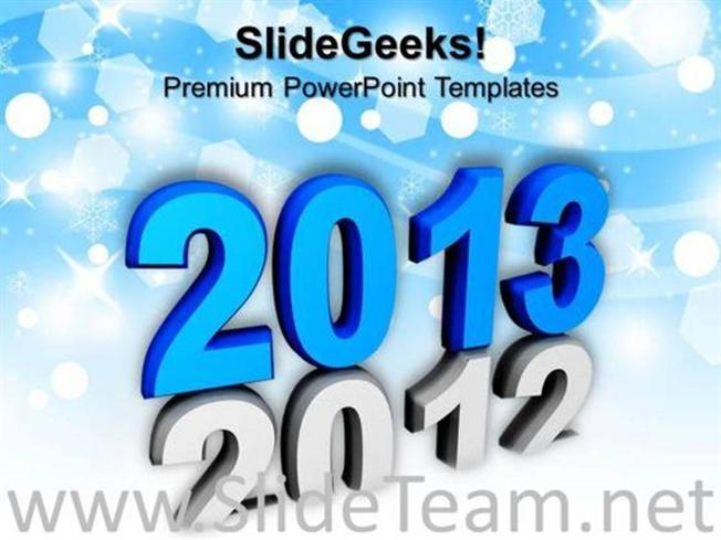 new year vacation powerpoint background powerpoint template