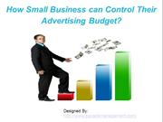 How Small Business can Control Their Advertising Budget