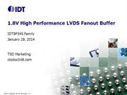 1.8V LVDS Clock Buffers by IDT: Low-power, High-performance