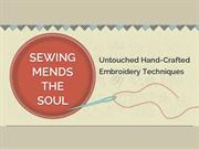 An Infographic on Hand-crafted Enbroidery Techniques