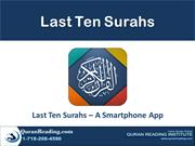 Learn Short Surahs of Qurans - Last Ten Surahs Mobile App